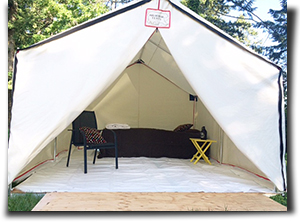 Glamping with Capital Canvas Wall Tents